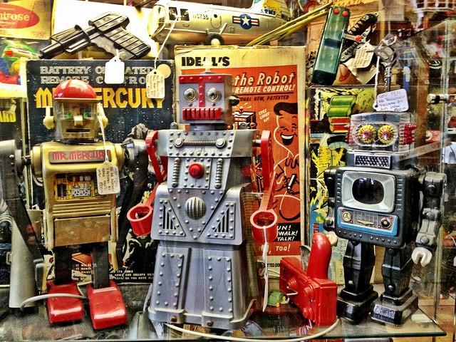 Robots jouets vintages - vintage robot toys 83514810