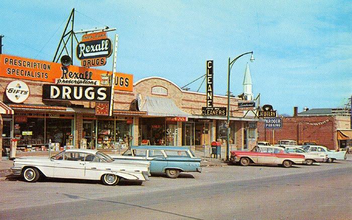Rues fifties et sixties avec autos - 1950's & 1960's streets with cars Festus10