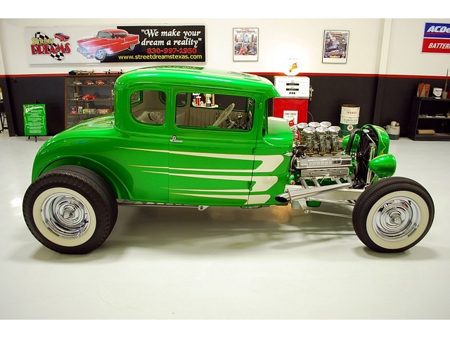 1930 Ford Model A 5 window - Smokehouse Rods & Cycles - Kryptonite Kgrhqf49