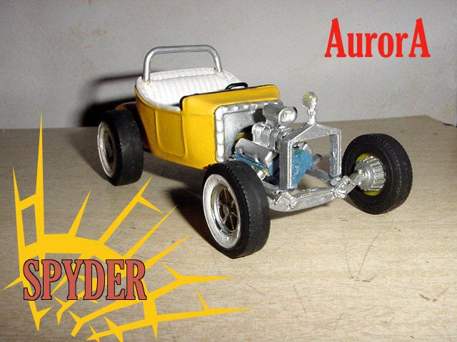Aurora Hot Rod 1/32 - 1/25 model kit Spyder11