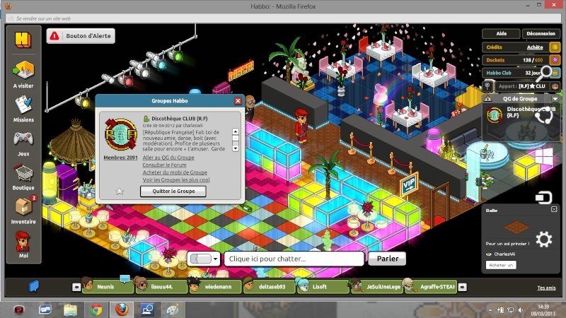 Soirée Steampunk a la Discothèque Habbo Disco10