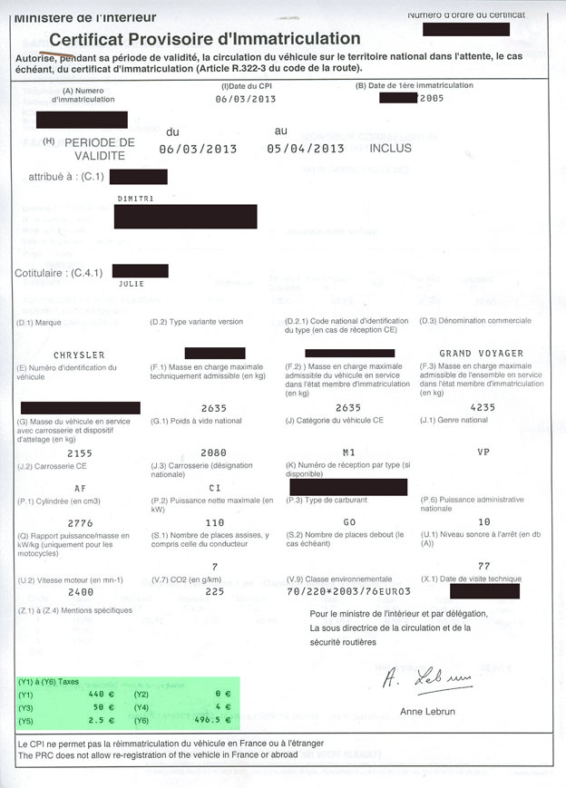Decryptage Carte Grise Cgp11