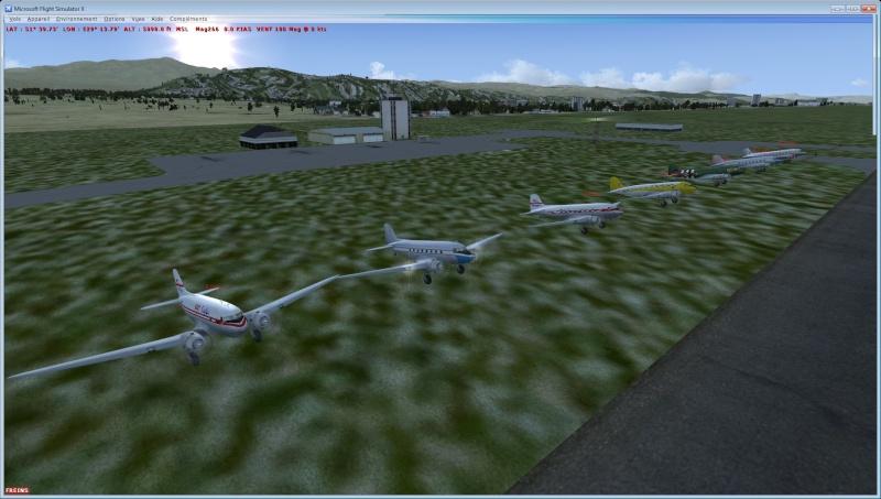 Vol en formation en Afrique (DC3) 1_310