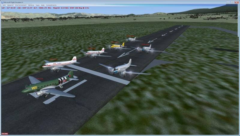 Vol en formation en Afrique (DC3) 1_410