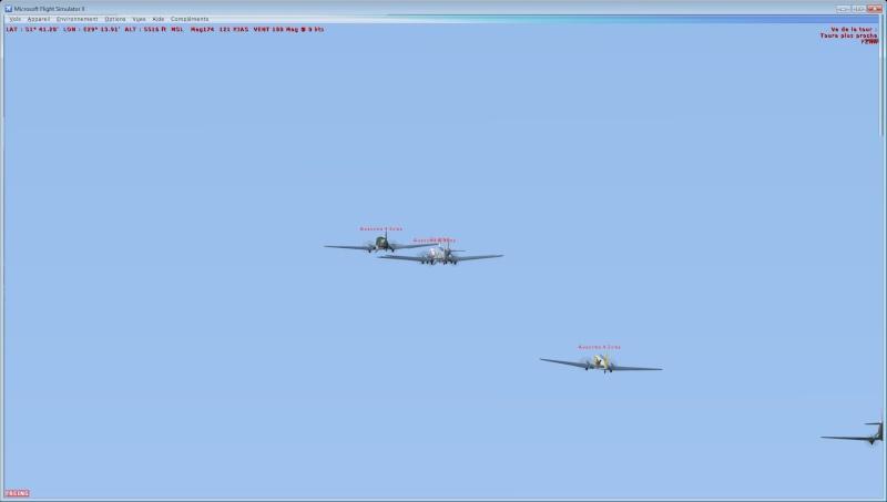 Vol en formation en Afrique (DC3) 1_610