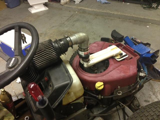 V-twin snorkel/ air filter. Image210