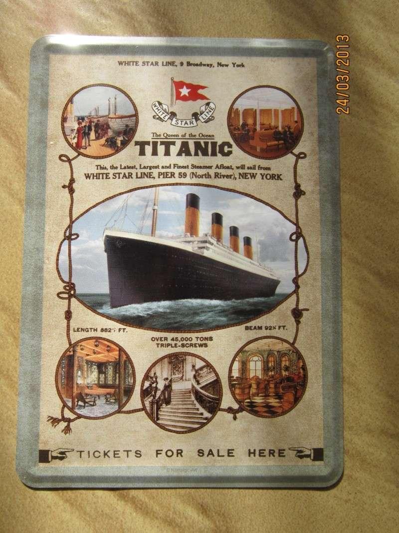Publicités pour le voyage inaugural Titani22