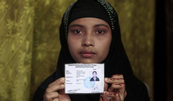 la situation sur le terrain des réfugiés Rohingyas? Rowinj10
