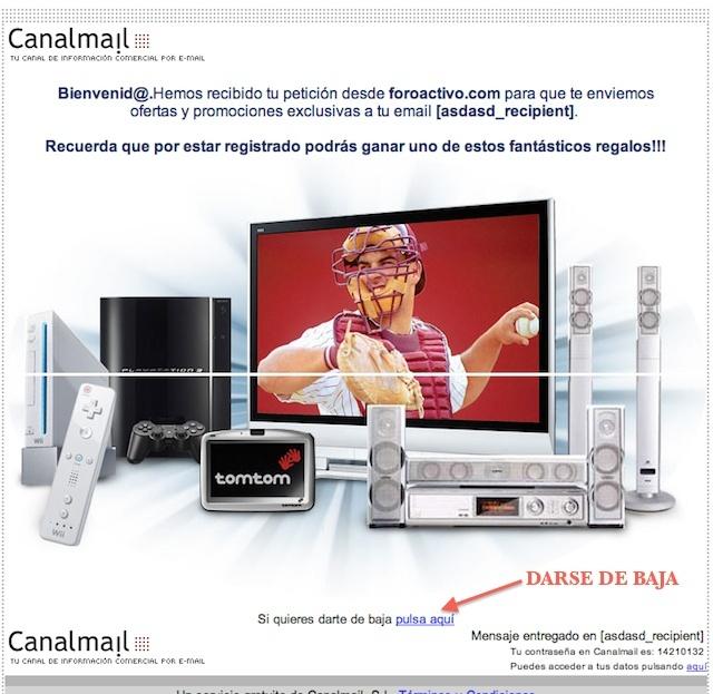 Dase de baja de CANALMAIL Captur11
