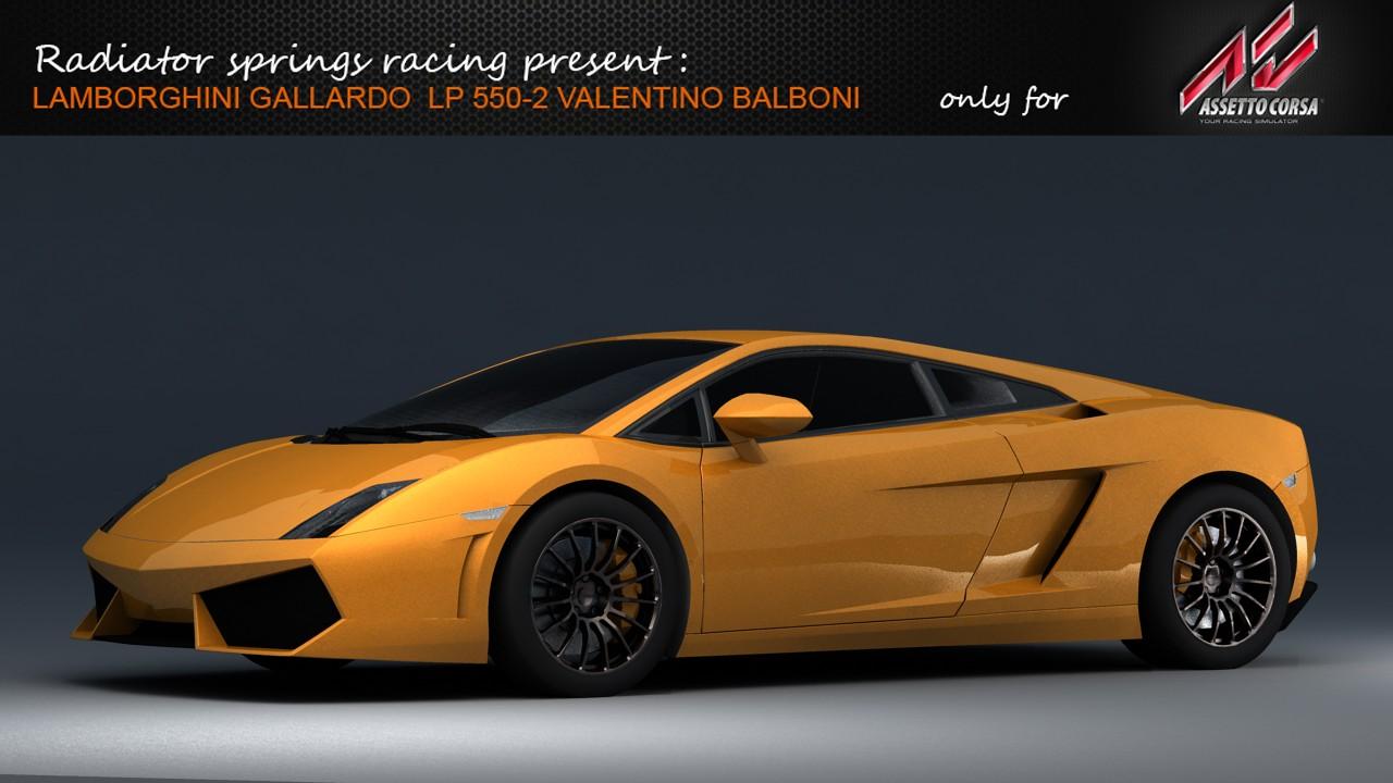 RSR Lamborghini Gallardo Valentino Balboni for AC Gallar23
