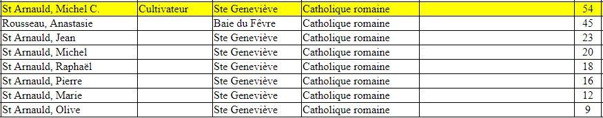 Infos sur la famille Michel Bertrand dit St-Arnaud 1852st10