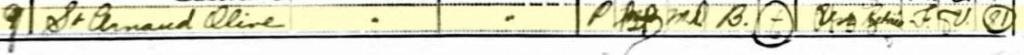 Infos sur la famille Michel Bertrand dit St-Arnaud 1921ge11