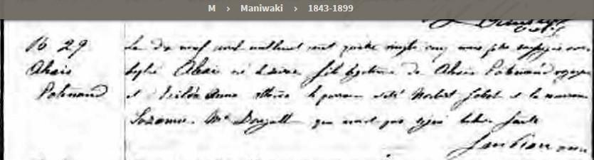 marriage d'Alexandre Patenaude et Exilda McCroncy Bpat1810