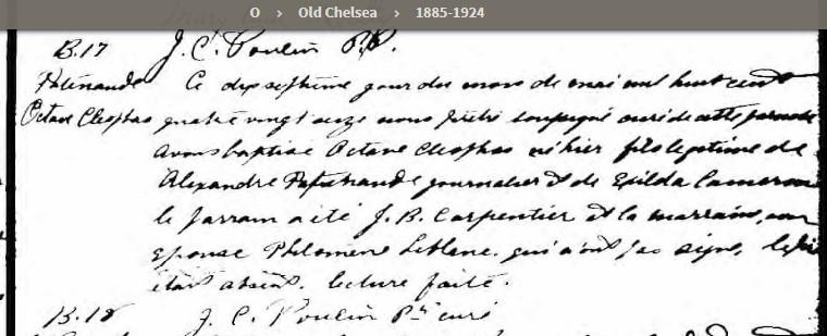 marriage d'Alexandre Patenaude et Exilda McCroncy Bpat1813