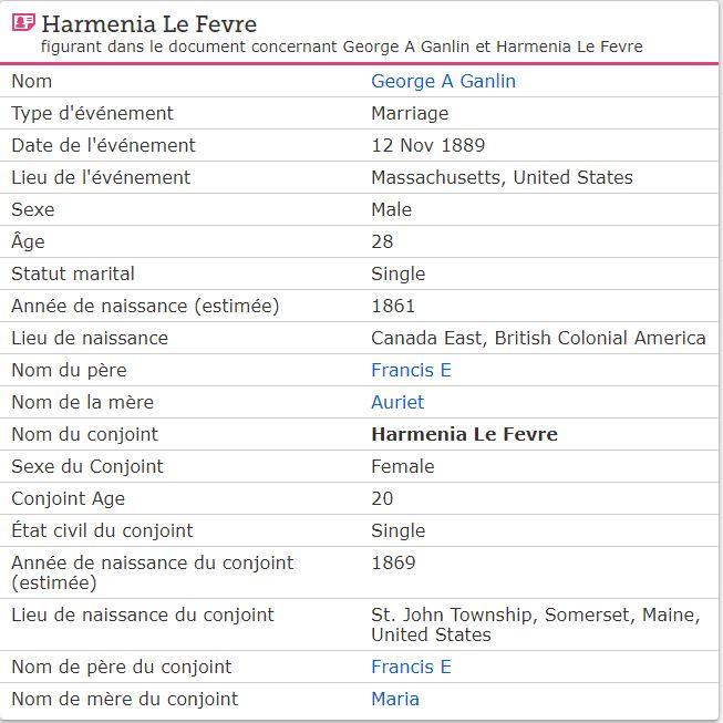GOLAR Georges Alfred & LEFEBVRE Hermine & Mc GOVERN ELISABETH Mhermi10