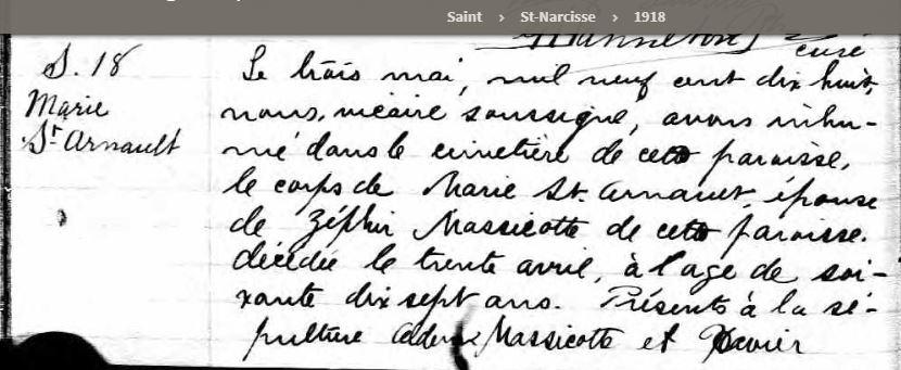 Infos sur la famille Michel Bertrand dit St-Arnaud Smarie10