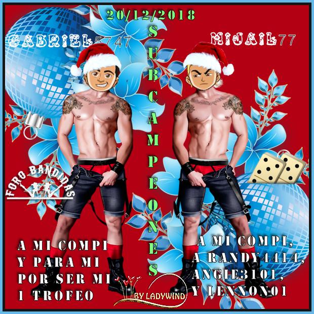 20/12/2018 CAMPEONES LOLAGATA Y MARDELPLATA12 - SUBCAMPEONES MIJAIL77 Y GABRIEL5747 20-12-10