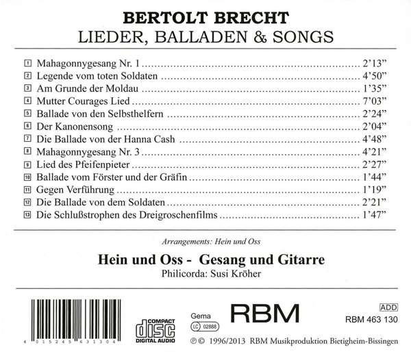 Kurt Weill, musique vocale 40152410