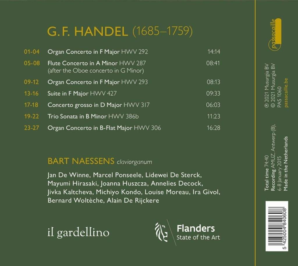 Haendel - Concertos pour orgue ou instruments seuls 61t02y11