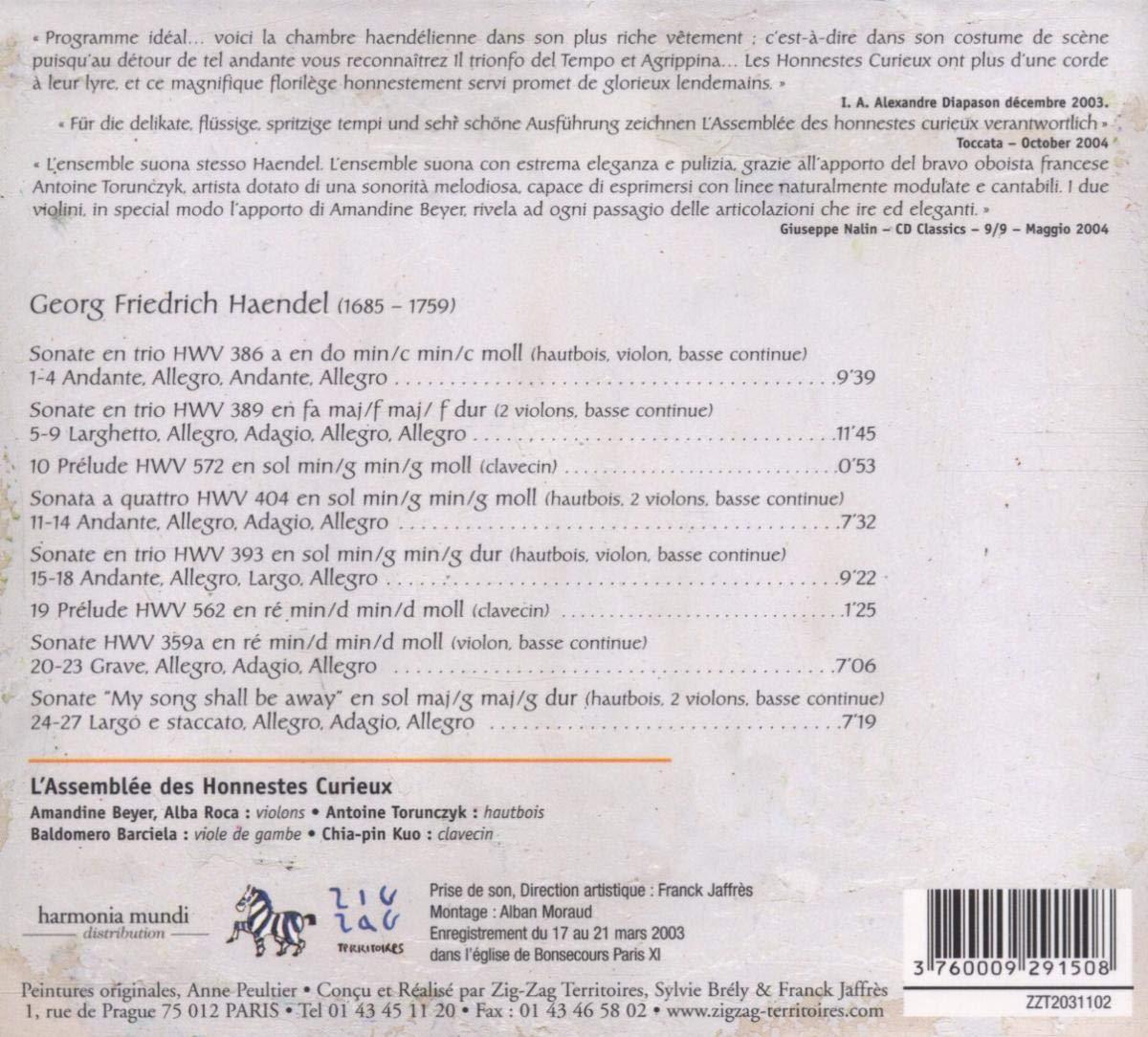 Haendel - Sonates en trio, ou instruments seuls et b.c. 71mldg10
