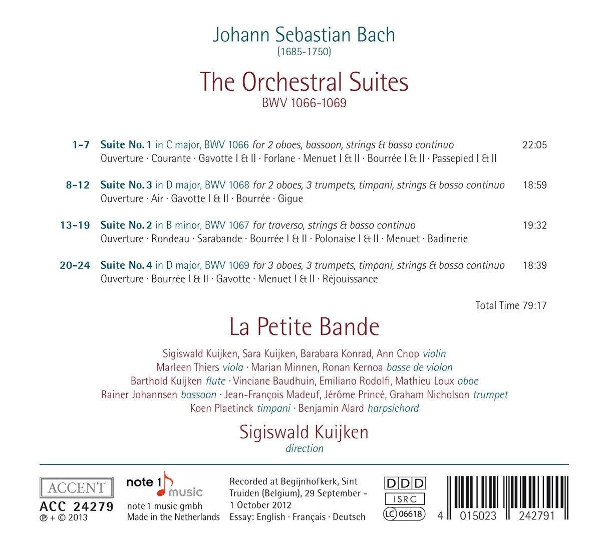 Suites pour orchestre de J.S Bach 71ugny10