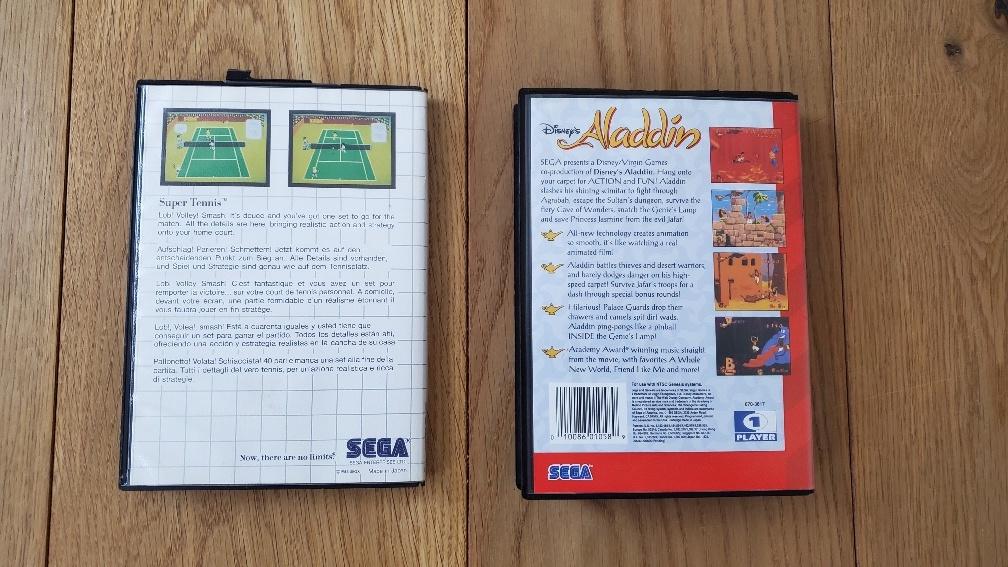 (VDS) Aladdin Megadrive en très bon état + Super Tennis Sega Cards Photo_22