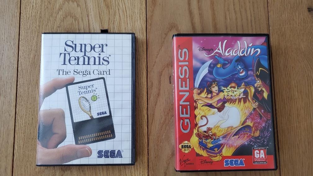 (VDS) Aladdin Megadrive en très bon état + Super Tennis Sega Cards Photo_23