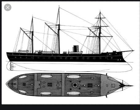 CORAZZATA - fregata corazzata regina Maria Pia 1amari11