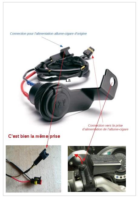 Tuto montage Support GPS TOMTOM sur FJR1300 Prise_10