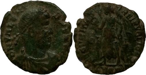 Nummus a la Victoria, Valentinien 1er a id 210