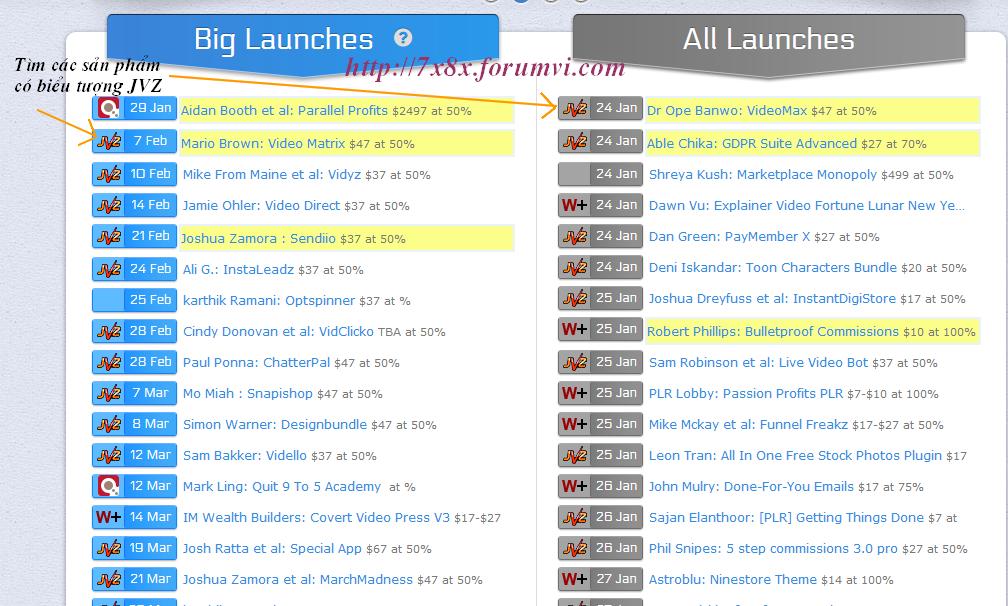 Hướng dẫn tạo link tiếp thị liên kết trong Jvzoo Screen17
