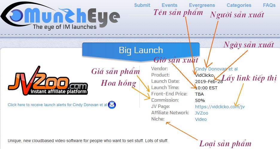 Hướng dẫn tạo link tiếp thị liên kết trong Jvzoo Screen18