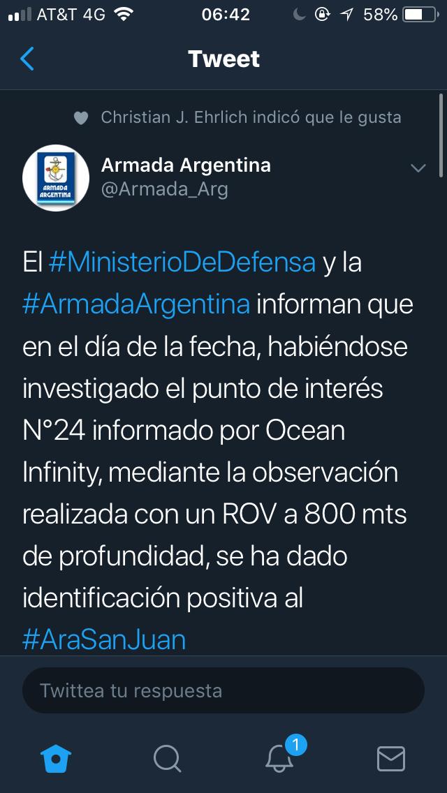 Desapareció el ARA San Juan - Página 26 3a225110