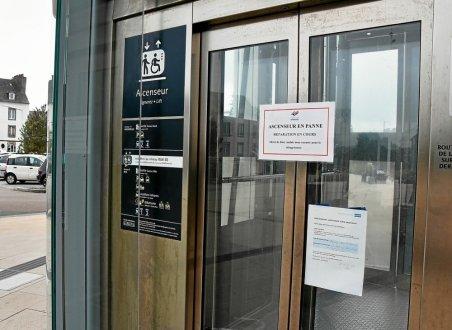 Gare de Morlaix. Ça coince pour les ascenseurs Quand-10