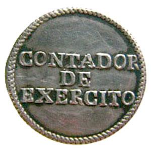 Botón de tesorero del exercito Contad10