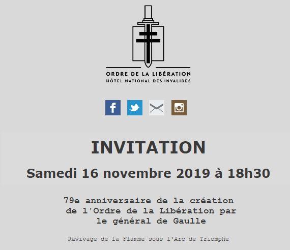 Anniversaire de la création de l'Ordre de la Libération le 16 novembre 2019   Lous010