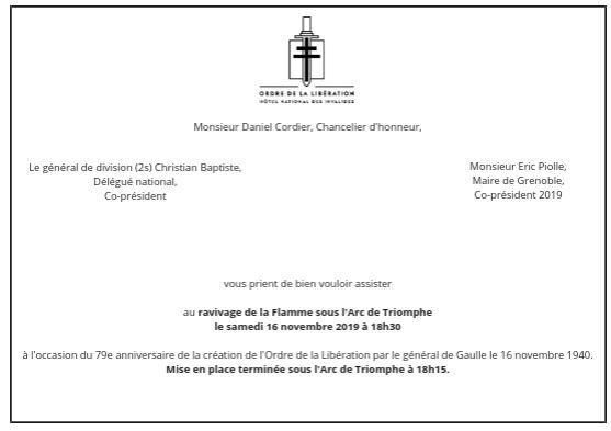 Anniversaire de la création de l'Ordre de la Libération le 16 novembre 2019   Lous110