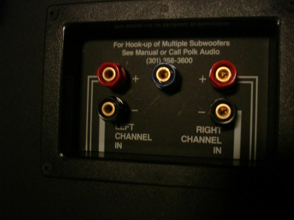Conexión subwoofer pasivo RM1000 Polk Audio a AVR D90fq411