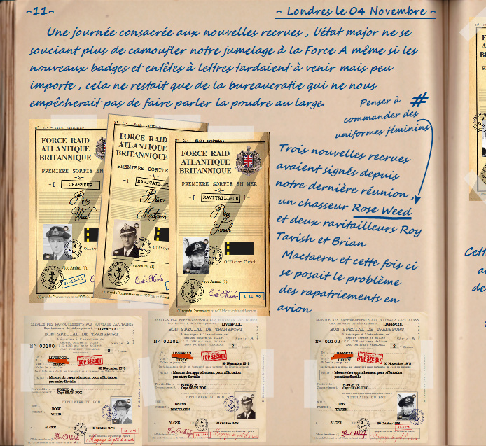 Carnet de notes du Major Vincent Devillard  1111