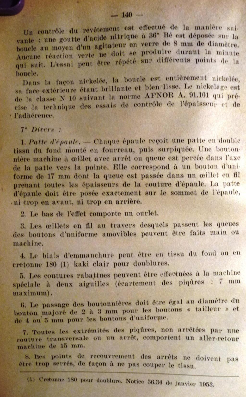 """Recherche """"instructions relatives aux tenues et uniformes"""" de 1958 01410"""