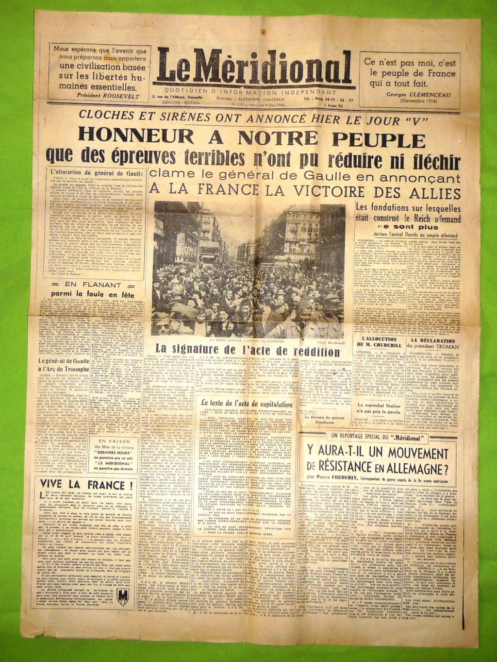 Mai-septembre 1945 : les journaux de la fin de la Seconde Guerre mondiale 9_mai_10
