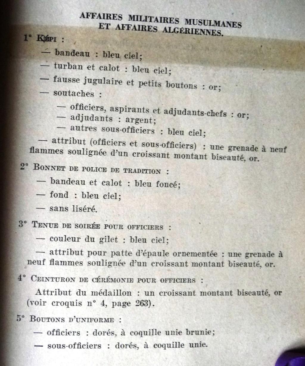 """Recherche """"instructions relatives aux tenues et uniformes"""" de 1958 Affal_10"""