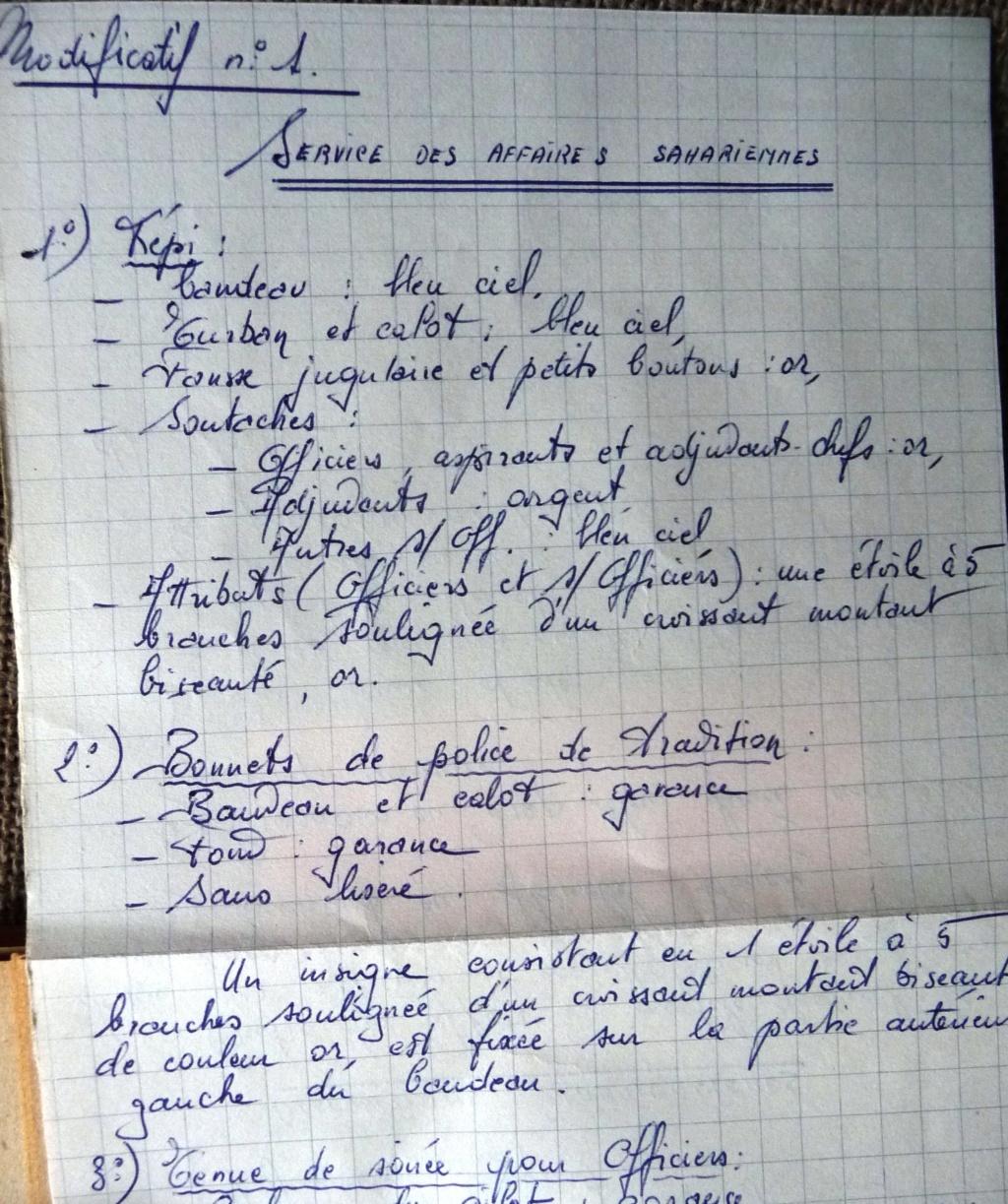 """Recherche """"instructions relatives aux tenues et uniformes"""" de 1958 Affal_13"""