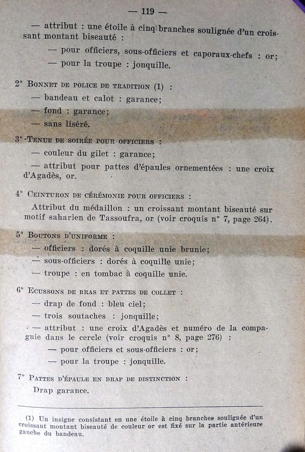 """Recherche """"instructions relatives aux tenues et uniformes"""" de 1958 Cosa_011"""