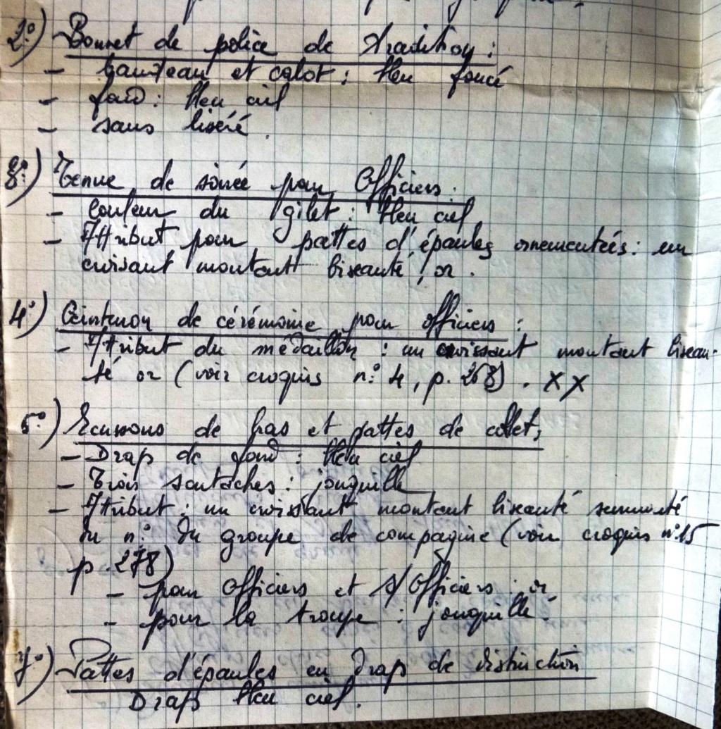 """Recherche """"instructions relatives aux tenues et uniformes"""" de 1958 Cosa_013"""