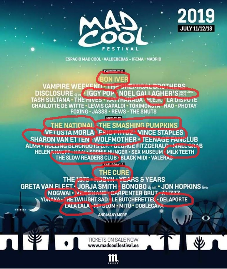 Mad Cool Festival 2019. The Cure, Iggy Pop, The National, Bon Iver, Smashing Pumpkins, Robyn, Sharon Van Etten... ¡Y lo que queda! #SoundsBetterLive - Página 12 Img-2038