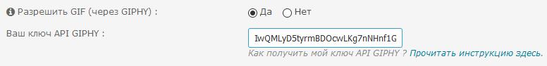 Как получить ключ API GIPHY и активировать кнопку GIF в редакторе Gif-ru10