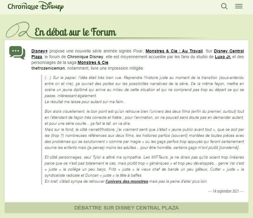Monstres & Cie : Au Travail [Disney Television - 2020] - Page 4 Captu493