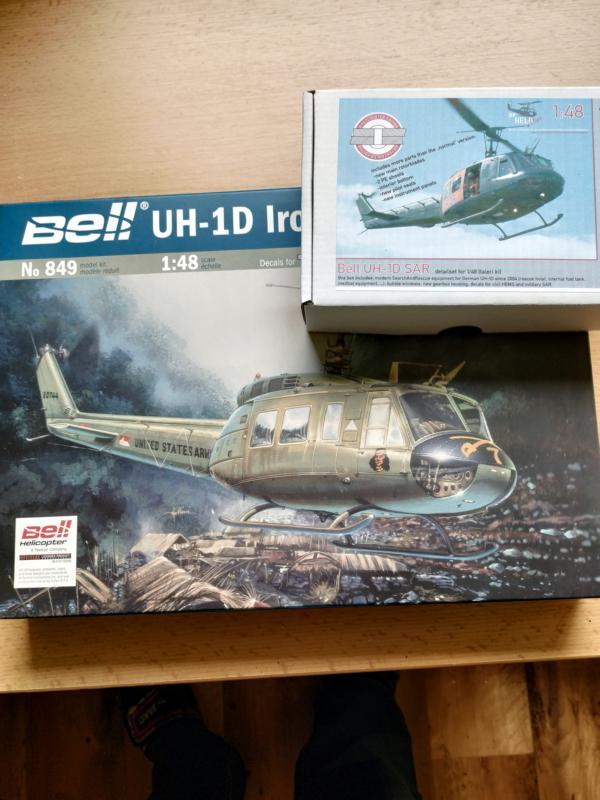 "Bell UH 1d ""SAR"" 1/48 Italeri, DF Helostuff 110"