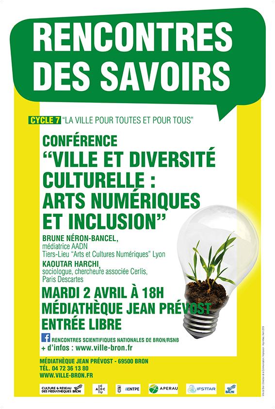 """Rencontres des Savoirs à Bron """"Ville et diversité culturelle : arts numériques et inclusion"""" Rds_4010"""